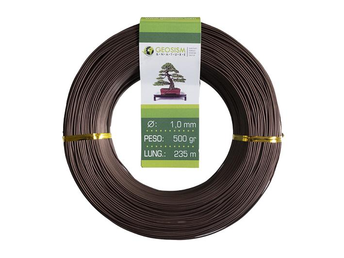 Coppered aluminum wire (aluminum-coppered) Geotools 1.0 mm for bonsai, 500 gr, 235 m