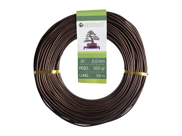 Coppered aluminum wire (aluminum-coppered) Geotools 2,0 mm for bonsai, 500 gr, 58 m