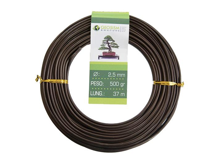 Coppered aluminum wire (aluminum-coppered) Geotools 2,5 mm for bonsai, 500 gr, 37 m