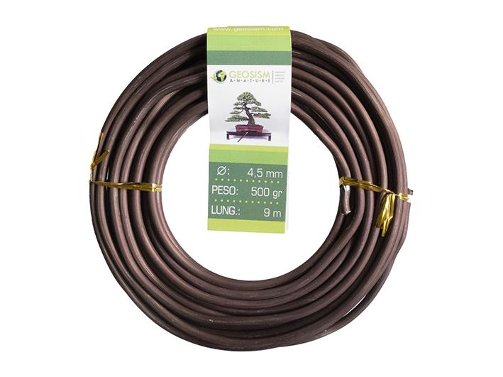 Coppered aluminum wire (aluminum-coppered) Geotools 4,5 mm for bonsai, 500 gr, 9 m
