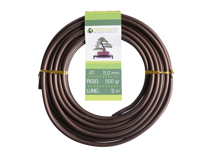 Coppered aluminum wire (aluminum-coppered) Geotools 5.0 mm for bonsai, 500 gr, 9 m