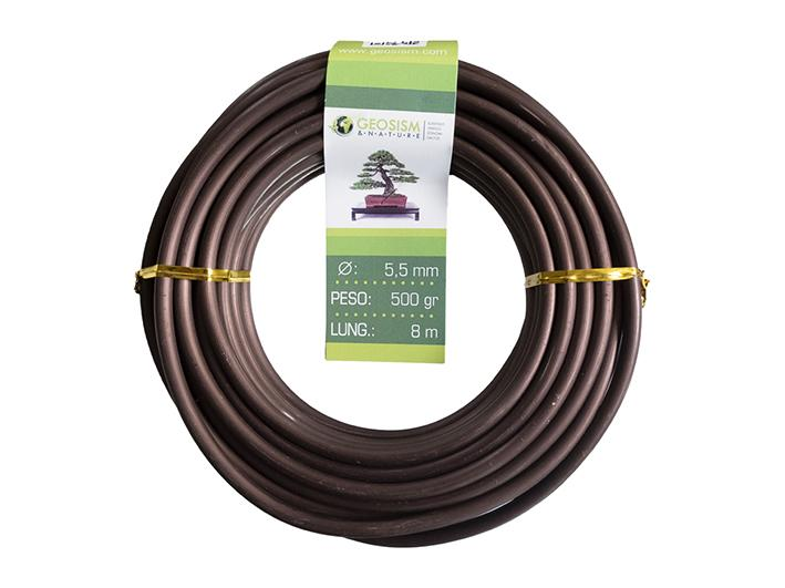 Coppered aluminum wire (aluminum-coppered) Geotools 5.5 mm for bonsai, 500 gr, 8 m