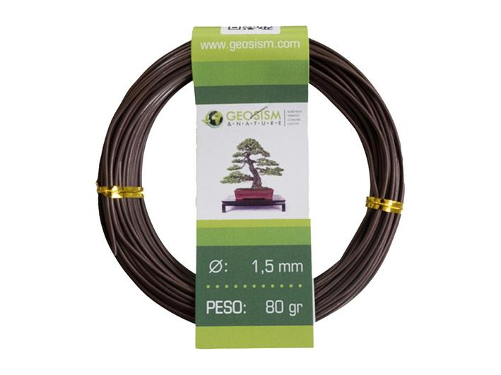 Coppered aluminum wire (aluminum-coppered) Geotools 1,5 mm for bonsai, 80 gr
