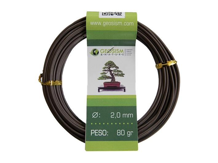 Coppered aluminum wire (aluminum-coppered) Geotools 2,0 mm for bonsai, 80 gr