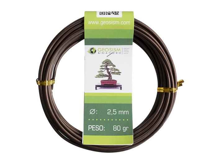 Coppered aluminum wire (aluminum-coppered) Geotools 2,5 mm for bonsai, 80 gr