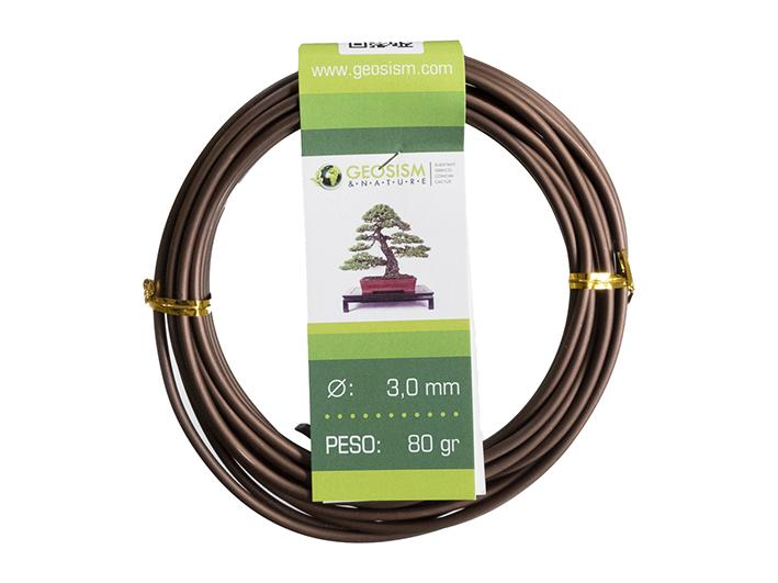 Coppered aluminum wire (aluminum-coppered) Geotools 3.0 mm for bonsai, 80 gr