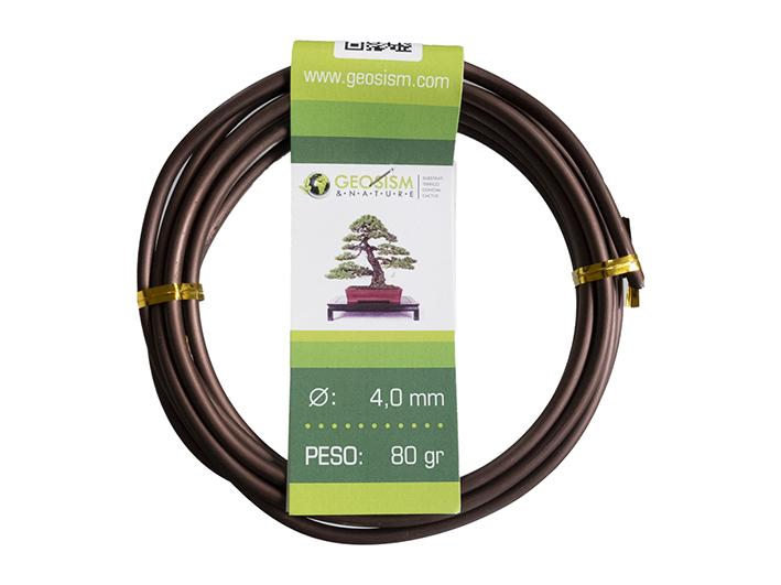 Coppered aluminum wire (aluminum-coppered) Geotools 4.0 mm for bonsai, 80 gr