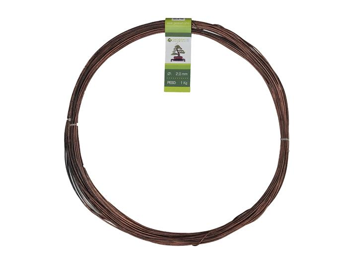 Geotools annealed copper wire 2.0 mm for bonsai, 1 Kg