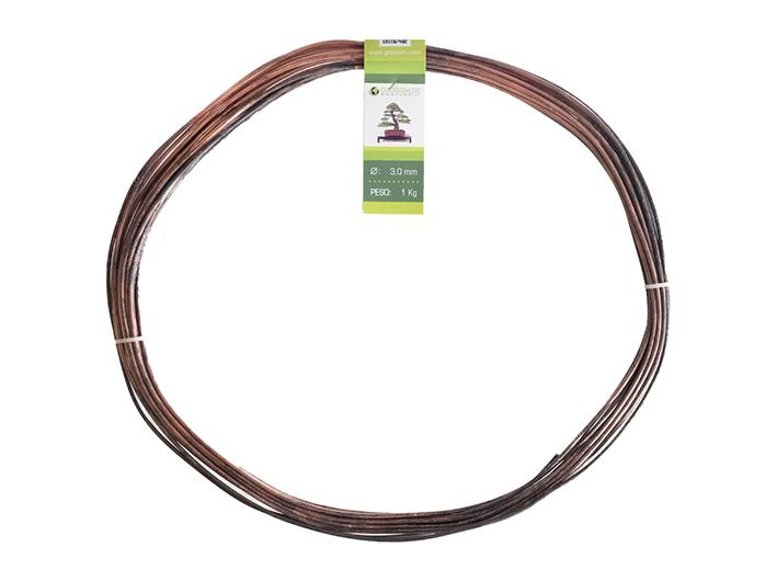Geotools annealed copper wire 3.0 mm for bonsai, 1 Kg