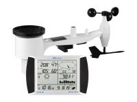 Barometro PCE-FWS 20N, per misurare la velocità e direzione del vento, temperatura, umidità relativa e piovosità